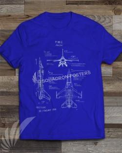 F-16C Blueprint T-Shirt