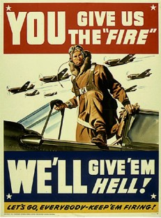 "Vintage Military ""Give 'em Hell"" Poster Art"