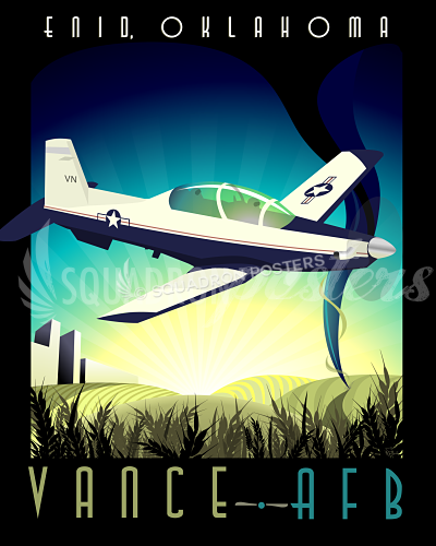 Vance AFB T-6 Texan II poster art