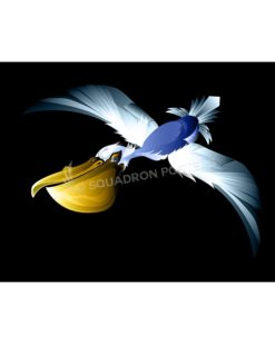 14th Airlift Squadron Pelicans Mascot Lithograph 14th AS Charleston AFB Mural - Mascot-Color SP01404-FEAT-jet-black-aircraft-lithograph-art
