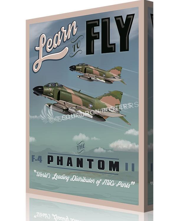 Learn to Fly Phantom F-4 SP00659 canvas-vintage-retro-print