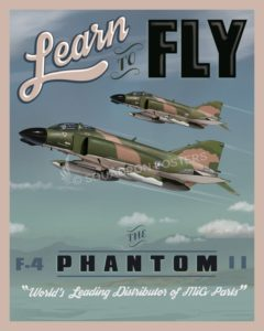 Learn to Fly the F-4 Phantom Learn to Fly Phantom F-4 SP00659 feature-vintage-print