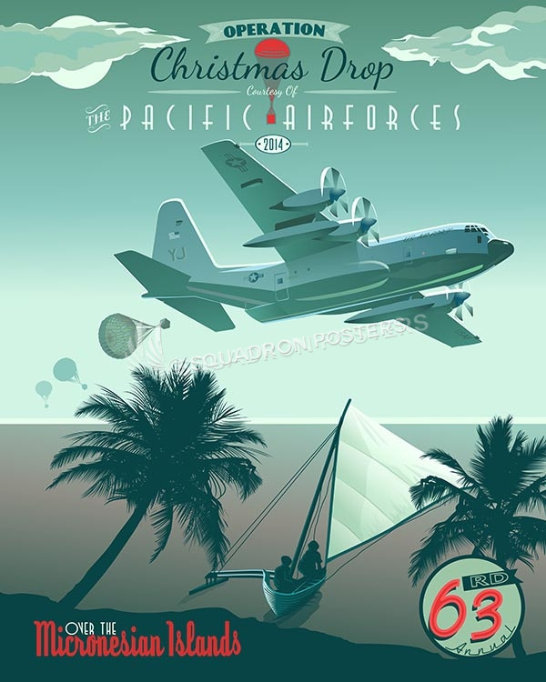 2014 Operation Christmas Drop 2014-operation-christmas-drop-sp00468-vintage-military-aviation-travel-poster-art-print-gift