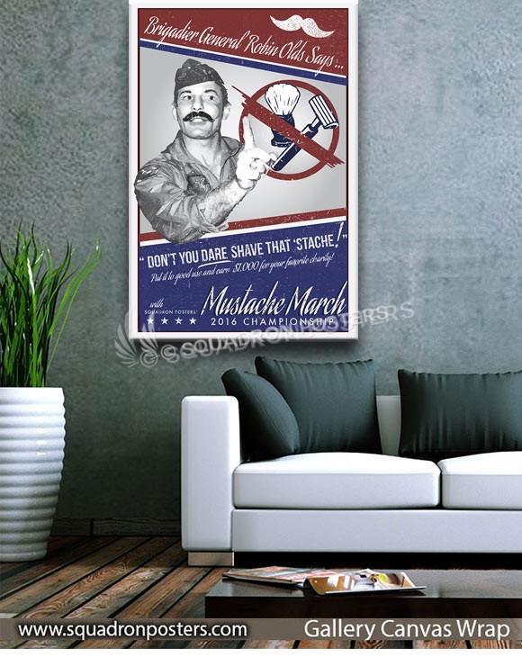 2016-Mustache-March-GRUNGY-SP00956-squadron-posters-vintage-canvas-wrap-aviation-prints