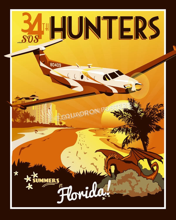 Hurlburt Field 34th SOS 34sos_sp01191-featured-aircraft-lithograph-vintage-airplane-poster-art