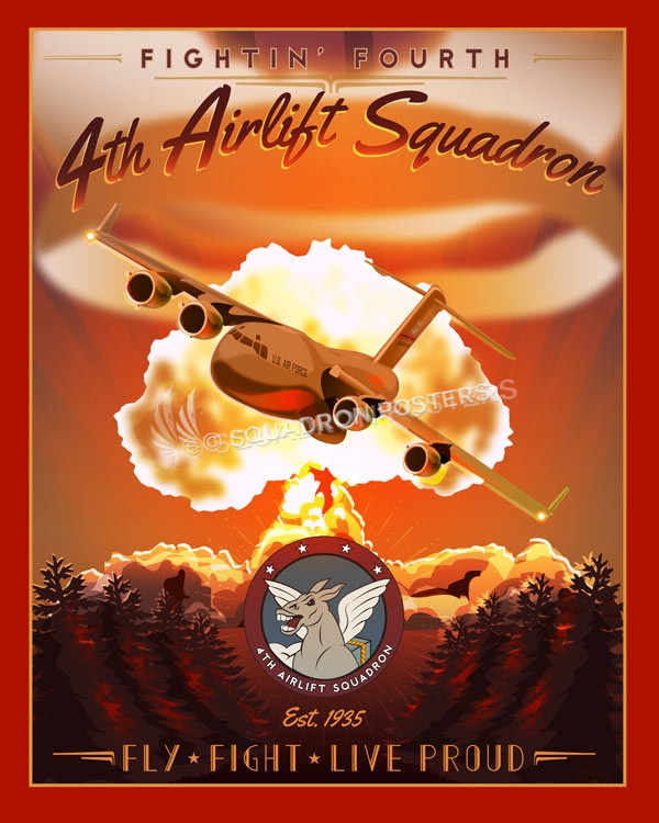Jb Mcchord 4th Airlift Squadron C 17 Squadron Posters