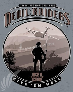 McGuire AFB C-17 621st Contingency Response Wing 621st-crw-dev-raiders-military-aviation-poster-art-print-gift