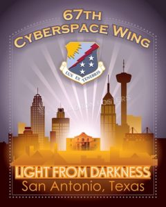 67th Cyberspace Wing SP00614-vintage-military-aviation-travel-poster-art-print-gift