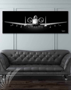 A-10 Jet Black Warthog Nose 60x20 SP00980-featured-image-military-canvas