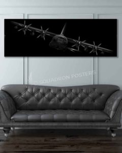 AC-130J Banked AC-130J-ghostrider-banked-SP01267-military-air-force-aviation-artwork-poster-jet-black-litho