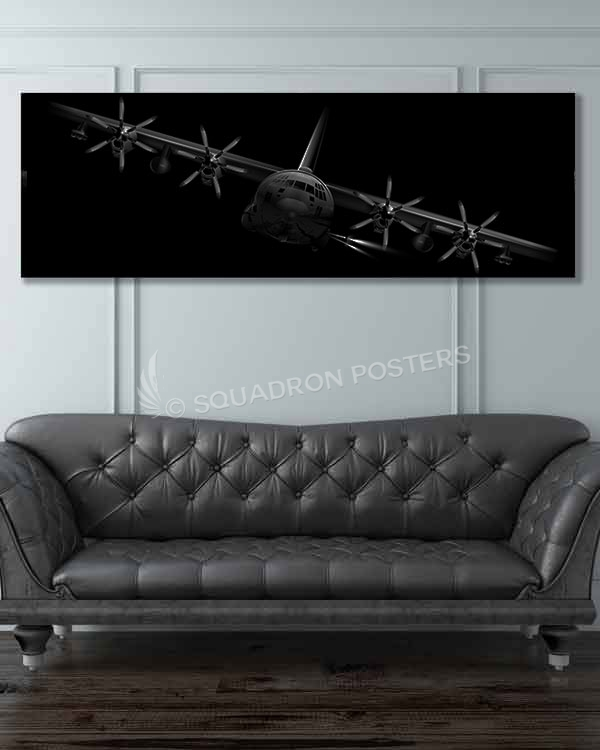 AC-130J Banked AC-130J-ghostrider-banked-SP01267-military-air-force-aviation-artwork-poster-jet-black-litho