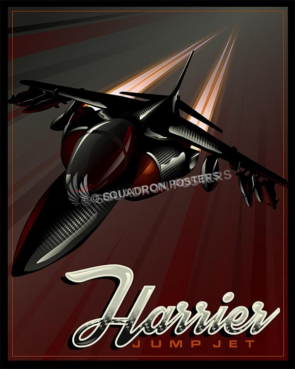 Harrier Jump Jet AV-8B Harrier II SP00569 military aviation poster art gift
