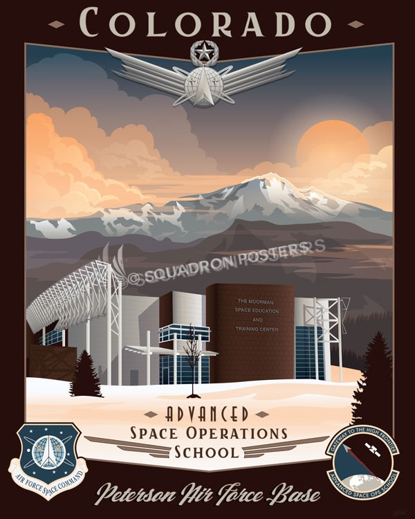 Peterson AFB, Advanced Space Operations School advanced_space_operations_school_peterson_afb_co_sp01165-featured-aircraft-lithograph-vintage-airplane-poster-art