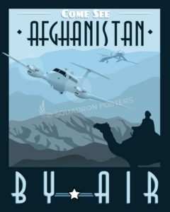 Afghanistan_MC-12_MQ-1_SP00963-featured-aircraft-lithograph-vintage-airplane-poster-art
