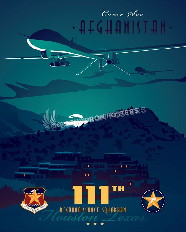 Come See Afghanistan 111 Rs Mq 1 Squadron Posters