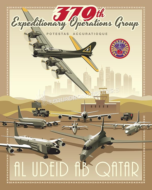 Al Udeid B-17 379 EOG SP00523-vintage-military-aviation-travel-poster-art-print-gift