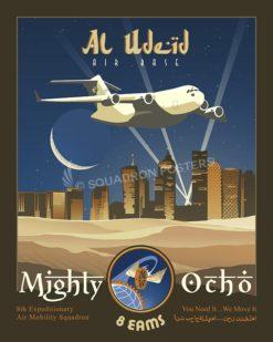 Al Udeid C17 8 EAMS SP00622-vintage-military-aviation-travel-poster-art-print-gift