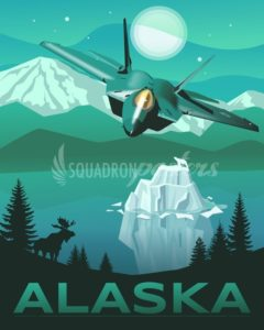 Alaska F-22 Raptor poster