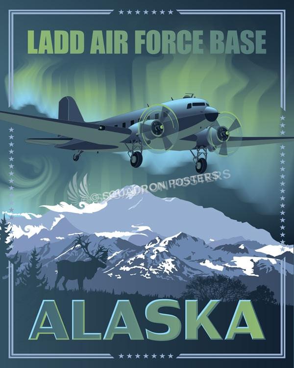 Alaska Ladd AFB C-47 SP00653 feature-vintage-print