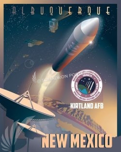 Kirtland AFB Rocket Albuquerque_Kirtland_Space_Rocket_SP01232-featured-aircraft-lithograph-vintage-airplane-poster-art
