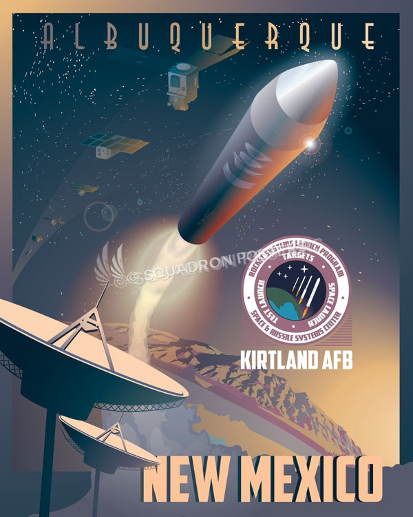 Kirtland Afb Rocket Systems Launch Program Squadron Posters