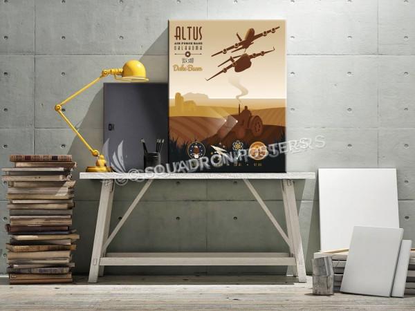 Altus AFB C-17 K-135 97th TRS - 54th ARS - 58th AS - 97th OSS SP00694 canvas-vintage-retro-print
