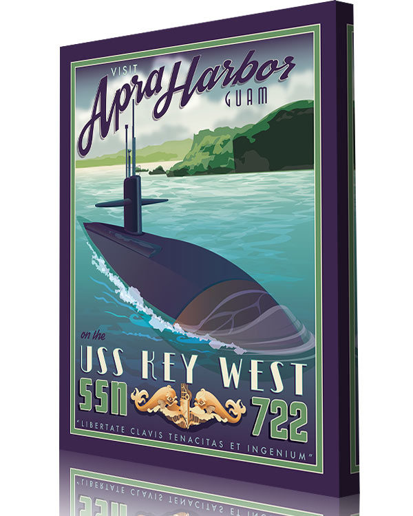 Details about  /USS Key West SSN-722 Attack Submarine Long Sleeve Tee Shirt