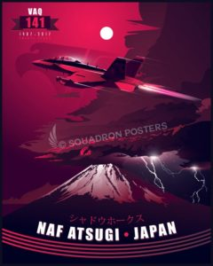 VAQ-141, EA-18G, NAF Atsugi Atsugi_Japan-EA-18G_VAQ-141_SP01281-featured-aircraft-lithograph-vintage-airplane-poster-art