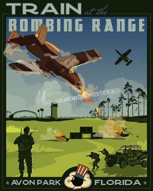 Avon Park Af Range Florida Squadron Posters