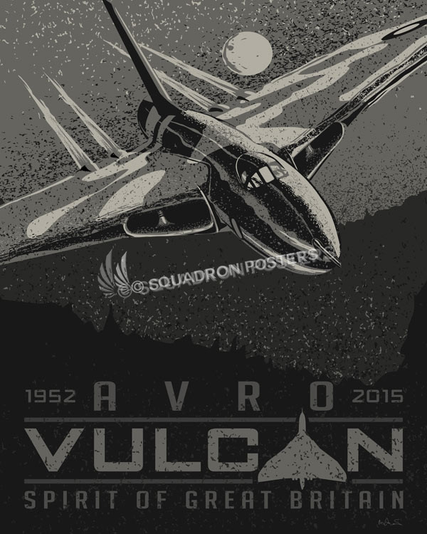 Avro vulcan sp00824 featured aircraft lithograph vintage airplane poster art