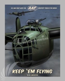 B-24 Liberator b-24_poster_sp01222-featured-aircraft-lithograph-vintage-airplane-poster-art