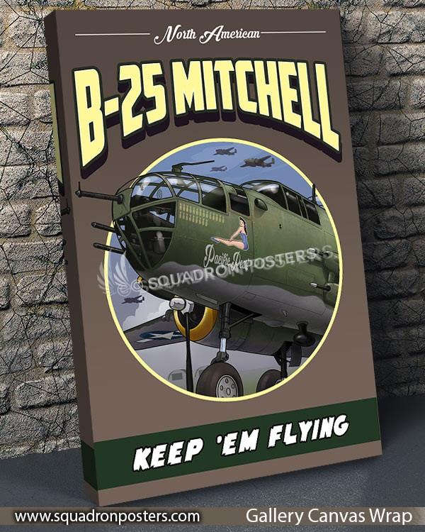 B-25 SP00738 vintage-travel-poster-aviation-squadron-print-poster-art