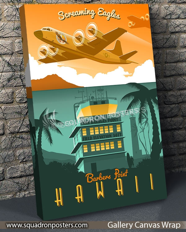 Barber's-Point-P-3-VP-1-vintage-travel-poster-aviation-squadron-print-poster-art