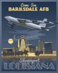 Barksdale AFB B-52 16x20 v2 SP00456-vintage-military-aviation-travel-poster-art-print-gift