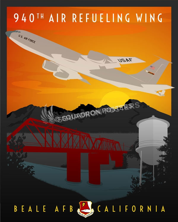 Beale Afb 940th Air Refueling Wing Squadron Posters