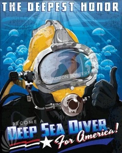 Become a Deep Sea Diver SP00618-vintage-military-naval-travel-poster-art-print-gift