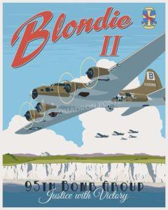 Blondie B-17 95 Bomb Group SP00632-vintage-military-aviation-travel-poster-art-print-gift