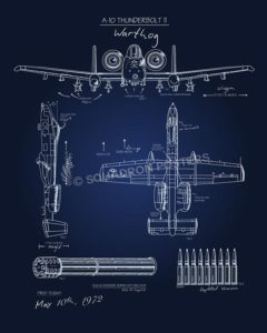 Blueprint A-10 SP00605-vintage-military-aviation-travel-poster-art-print-gift