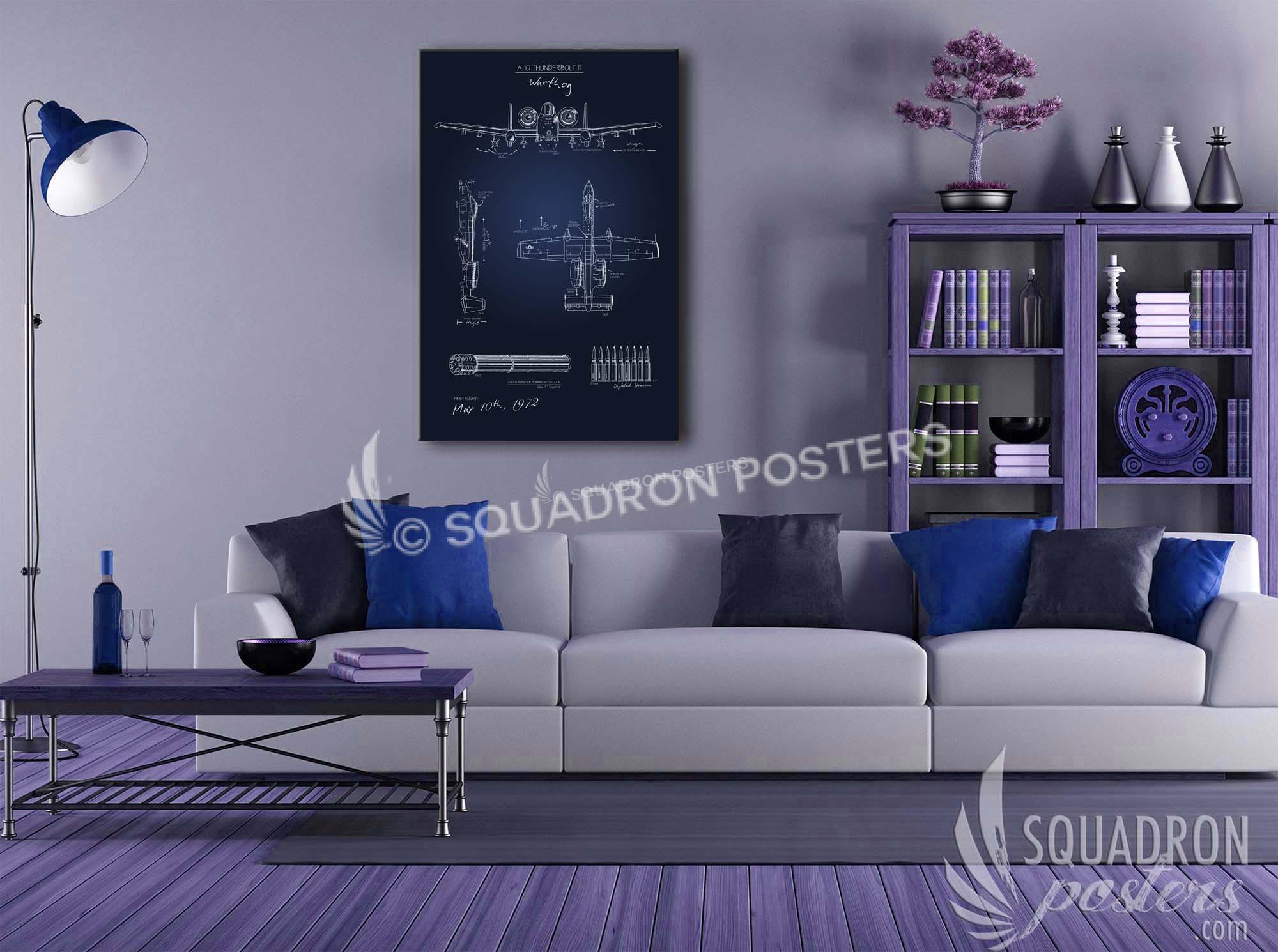 A 10 blueprint art squadron posters blueprint malvernweather Images