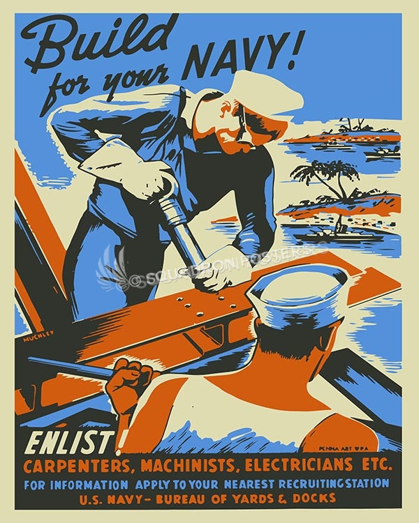 Build for your navy SP00597 Military Naval poster art print