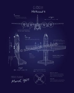 C-130H Blueprint SP00636 feature-vintage-print