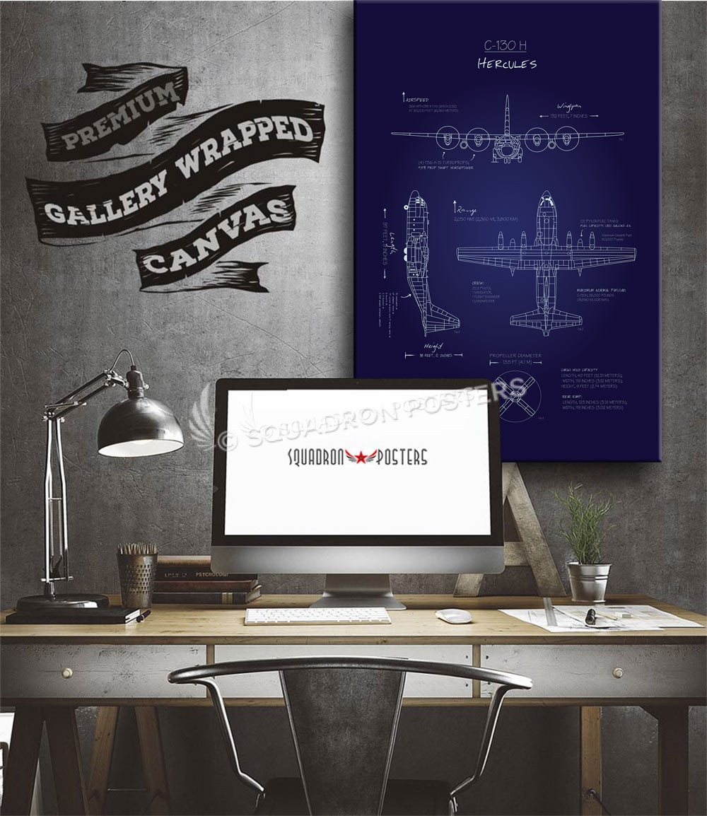 C 130h blueprint art squadron posters aircraft malvernweather Choice Image