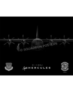 C-130J Ramstein 37 AS SP00764 FEAT-jet-black-aircraft-lithograph-print