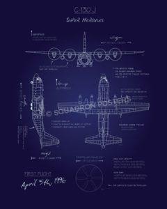C-130J Blueprint SP00671 feature-vintage-print