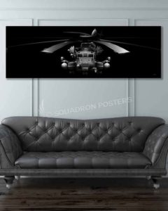 CH-53E HMH-772 Jet Black Super Wide Canvas Print CH-53E_Super_Stallion_Jet_Black_60x20_SP01283-military-usmc-aviation-artwork-poster-jet-black-litho