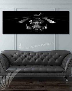 CH-53E HMH-772 Jet Black Super Wide Canvas Print CH-53E_Super_Stallion_Jet_Black_60x20_SP01283-military-usmc-aviation-artwork-poster-jet-black-litho