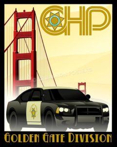 california-highway-patrol-chp-golden-Gate-auto-drive-poster-art-print-gift