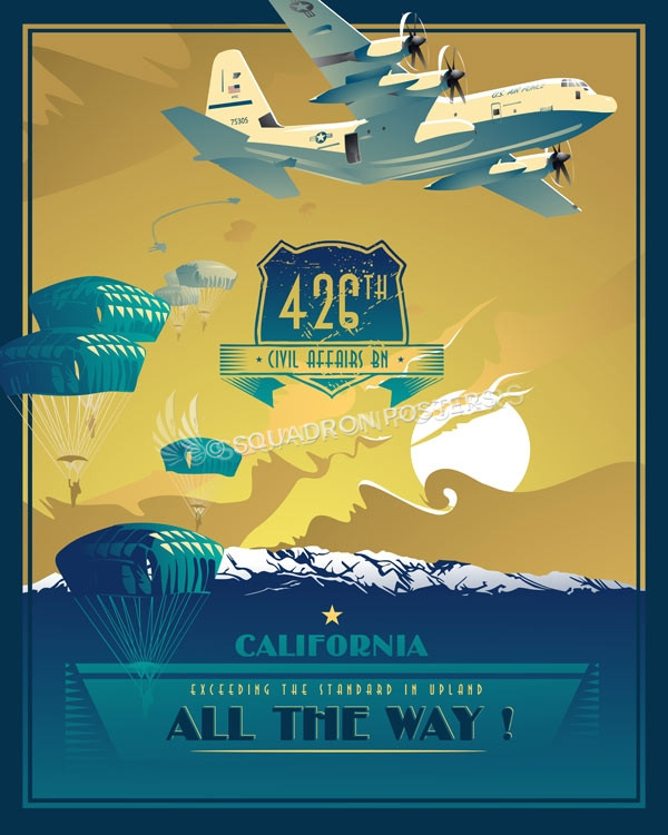 California_C-130_426th_Civil_Affairs_BN_SP00934-featured-aircraft-lithograph-vintage-airplane-poster-art