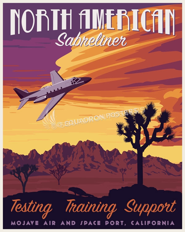 California_Sabreliner_Flight_Research_SP00949-featured-aircraft-lithograph-vintage-airplane-poster-art