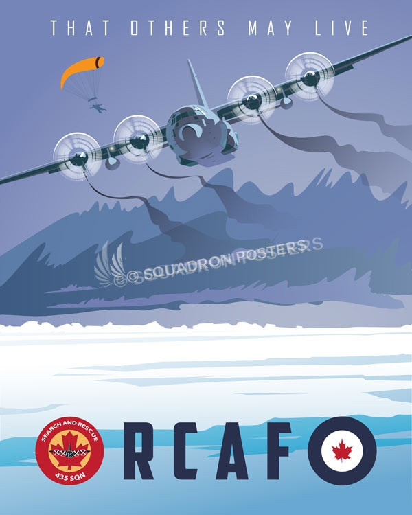 Canada_CC-130_435_SQN_SP01059-featured-aircraft-lithograph-vintage-airplane-poster-art